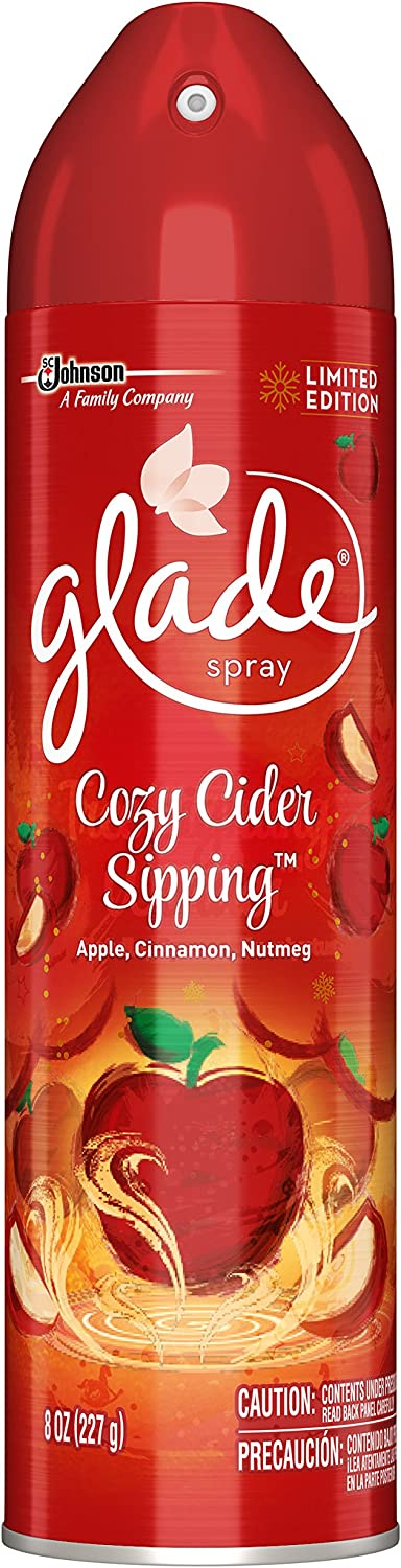 Glade Room Spray Air Freshener, Cozy Cider Sipping, 8 oz
