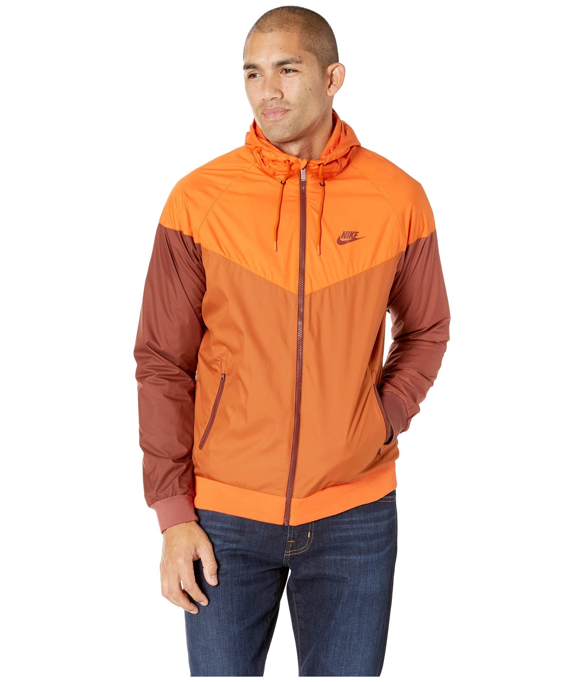 Nike Men's Windrunner Full Zip Jacket (Cmpfre Ornge/Dk Russet/Small) by Nike