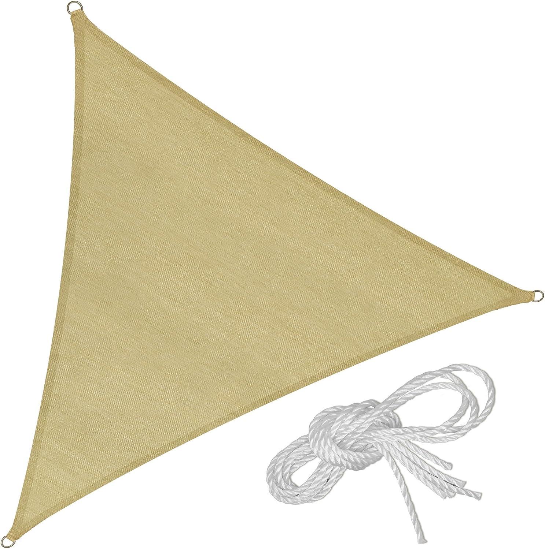TecTake Toldo Vela jardín protección UV   con Juego de Cables tensores   - Varios Modelos - (Triangular   3 m   No. 402602): Amazon.es: Jardín
