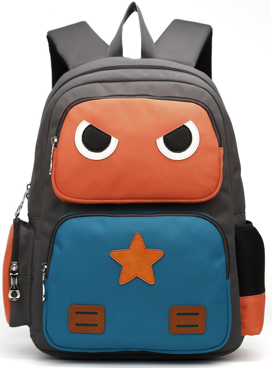 ArcEnCiel Kid's Backpack (Orange and Green) by ArcEnCiel