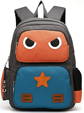 Amazon.com | ArcEnCiel Kid's Backpack (Orange and Green) | Kids ...