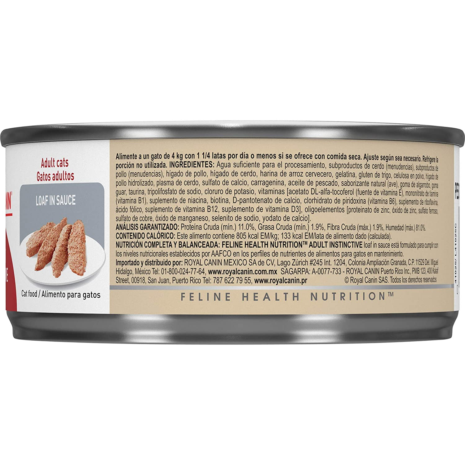 Amazon.com : Royal Canin Feline Health Nutrition Adult Instinctive Loaf in Sauce Canned Cat Food, 5.8 Ounce Can (Pack of 24) : Pet Supplies