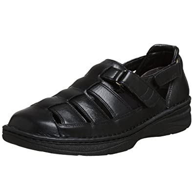 Drew Shoes Men's Springfield Sandal,Black Calf,14 ...