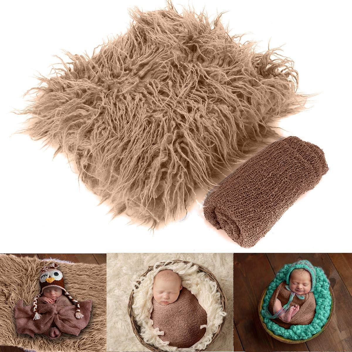 Yinuoday 2 Piezas de Accesorios de fotografía para bebés recién Nacidos DIY envolturas para recién Nacidos Manta de fotografía para bebés y niñas