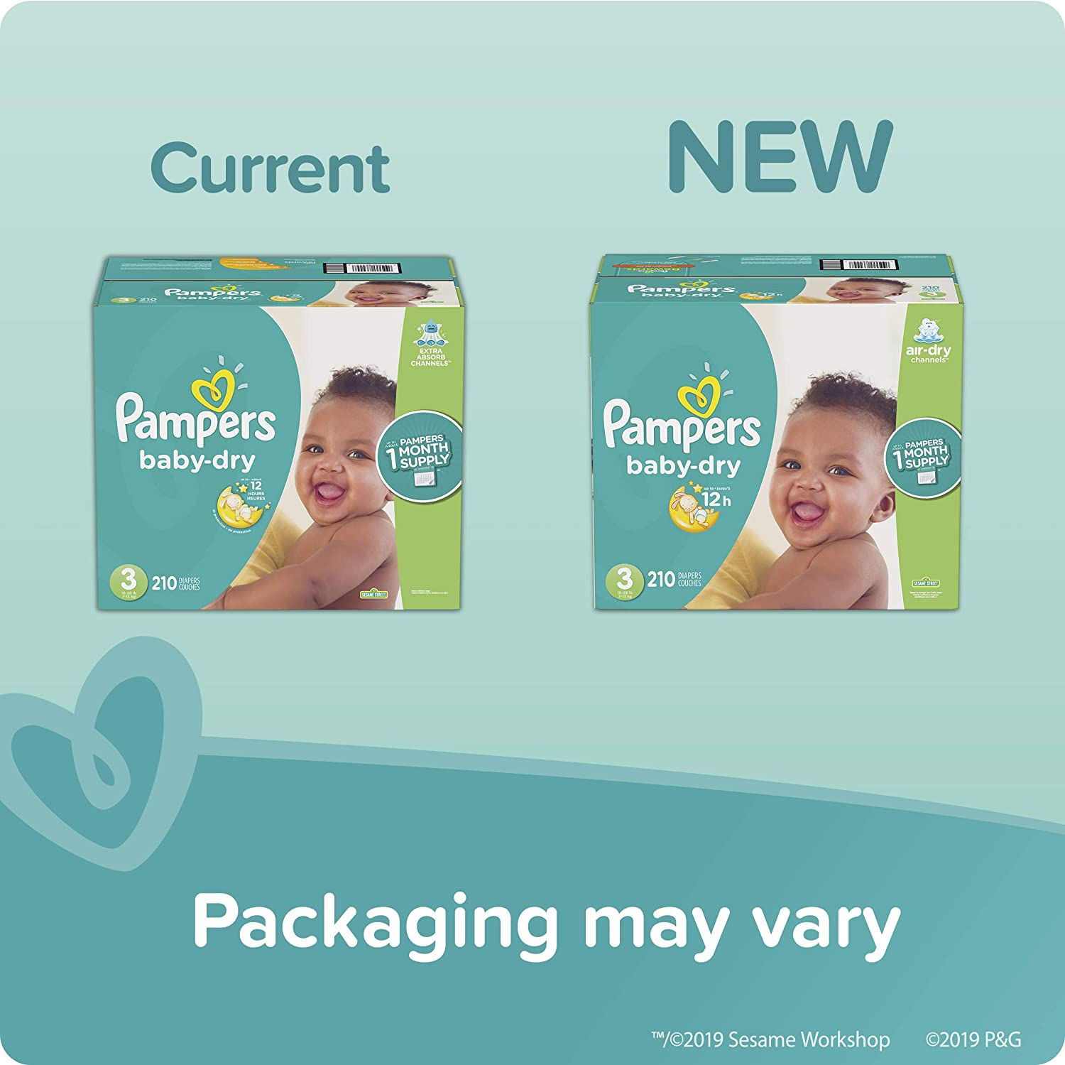 Packaging May Vary Enormous Pack 150 Count Diapers Size 4 Pampers Baby Dry Disposable Baby Diapers