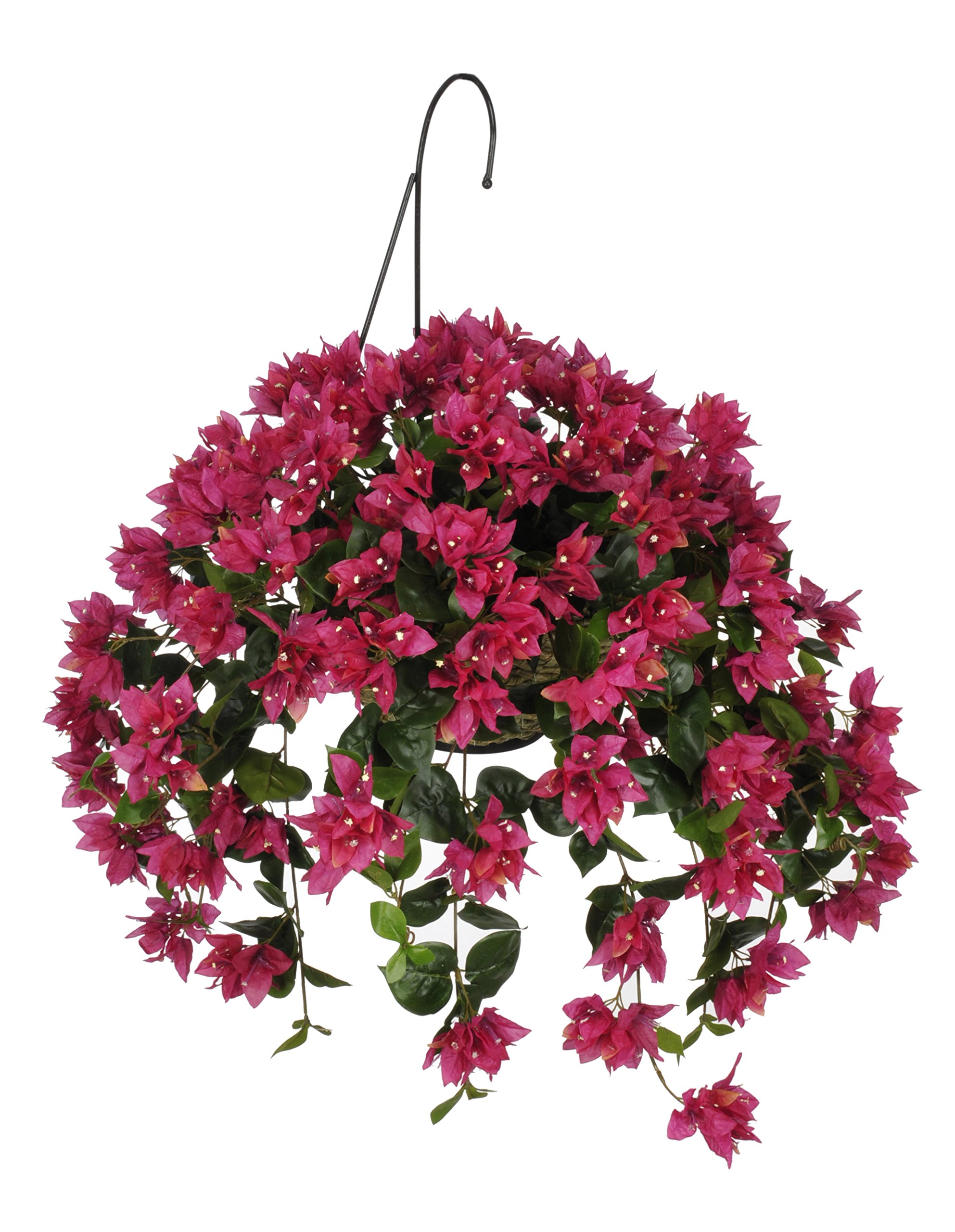 House of Silk Flowers Artificial Bougainvillea Hanging Basket, Violet/Fuchsia by House of Silk Flowers