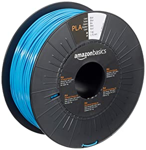 AmazonBasics PLA 3D Printer Filament, 1.75mm, Blue, 1 kg Spool
