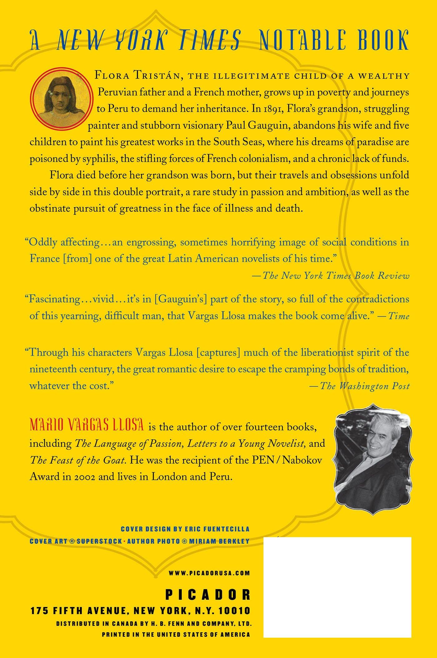 The Way To Paradise: A Novel: Mario Vargas Llosa, Natasha Wimmer:  9780312424039: Amazon: Books