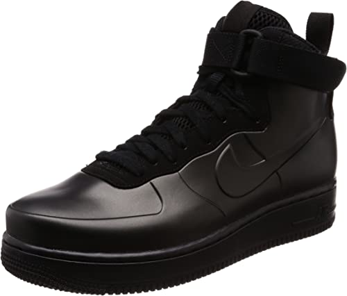 NIKE MEN/'S AIR FORCE 1 FOAMPOSITE CUP TRIPLE BLACK BASKETBALL SHOES ALL SIZES