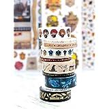 Paper House Productions SET0013 Harry Potter Washi Tape Bundle includes Five 15 mm Rolls Five 5 mm Rolls, Decorative Adhesive