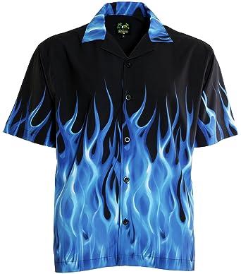 benny s blue flames bowling shirt at amazon men s clothing store