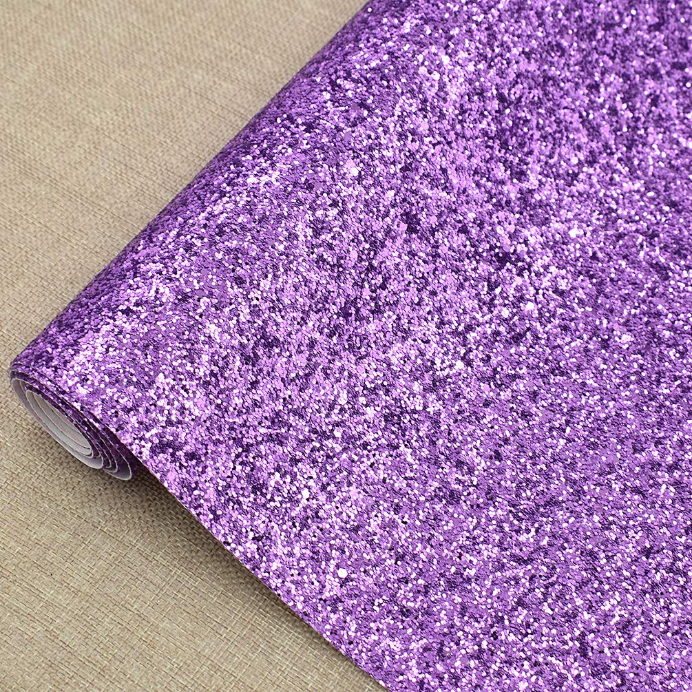 CHZIMADE 12inch x 53inch Chunky Leather Glitter Faux Fabric DIY Sheet Canvas Back Great for Hair Bows Making Craft by CHZIMADE (Image #4)