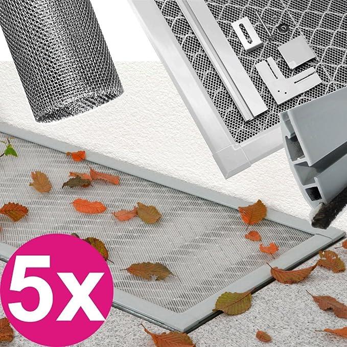 Alu-Lichtschachtabdeckung mit EDELSTAHL-Gewebe 115x50 für Kellerschacht