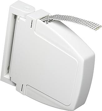 pack de 2 unidades ancho cinta de 14 mm Cinta 14 mm, Blanco Recogedor persiana abatible cinta persiana en blanco con pintas