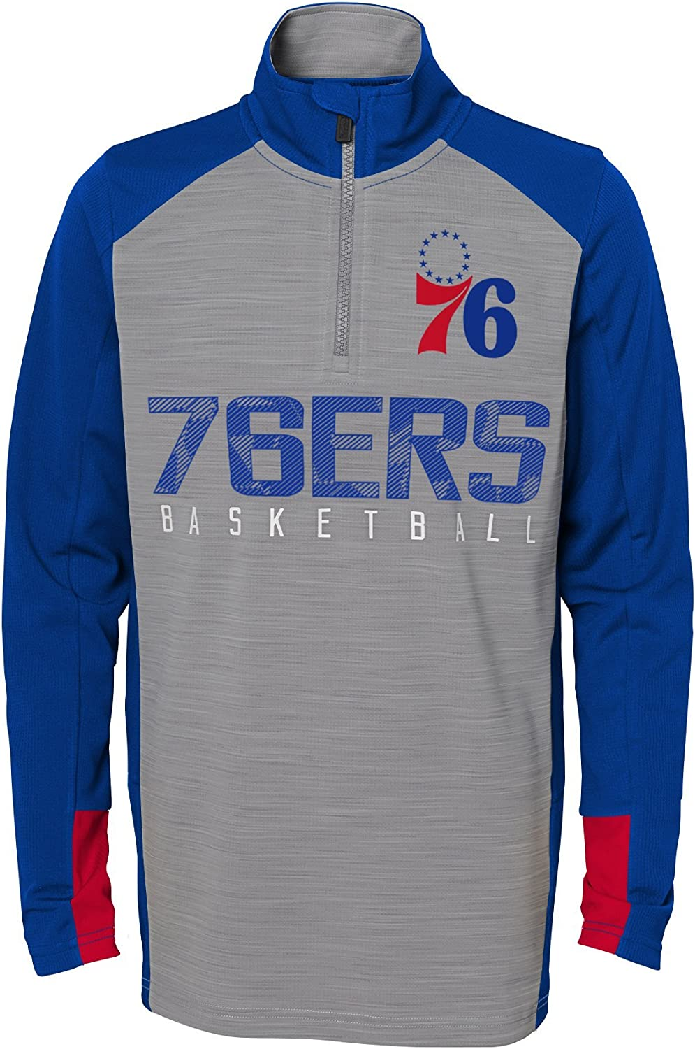Outerstuff NBA Boys Shooter 1//4 Zip Long Sleeve Top