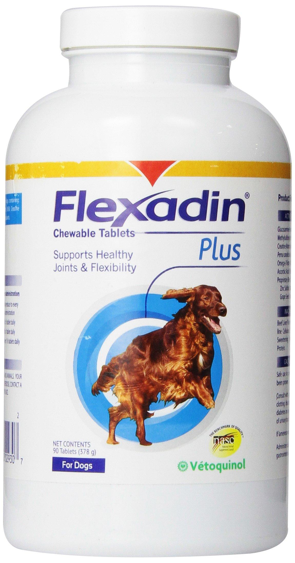 Vetoquinol Flexadin Plus Chewable Tablets for Dogs 90 Ct by Vetoquinol