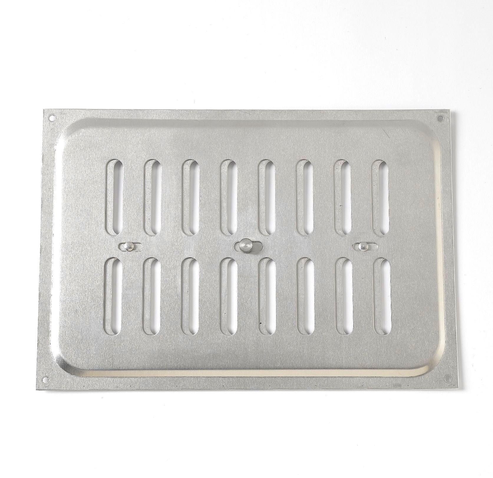 Bulk Hardware BH05804 Adjustable Hit and Miss Air Vent Grille, 240 x 165 mm (9.45 x 6.5 inches) - Aluminium