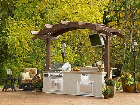 The Outdoor GreatRoom Company Arbor de Madera de Mocha 12 x ...
