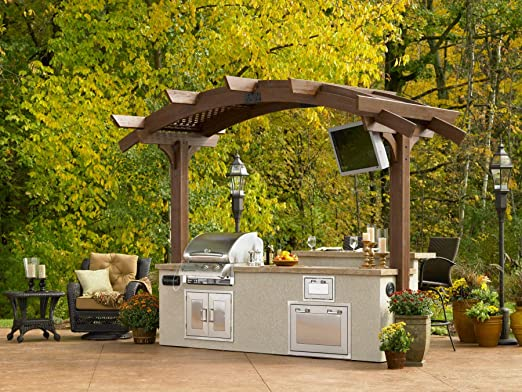 The Outdoor GreatRoom Company Arbor de Madera de Mocha 12 x 6 ...