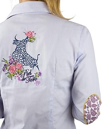 Piel de Toro 42146545 Camisa, Azul (Celeste 17), Small (Tamaño del ...