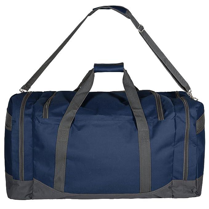 TecTake Sac de sport sac de voyage avec bandoulière 90L 70x35x35cm - diverses couleurs au choix - (Bleu rRGUoMx