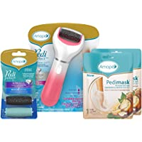 Amopé Pedi Perfect Spa Experience Pampering Pack, Wet & Dry Electronic Foot File, Waterproof, Rechargeable, Cordless…