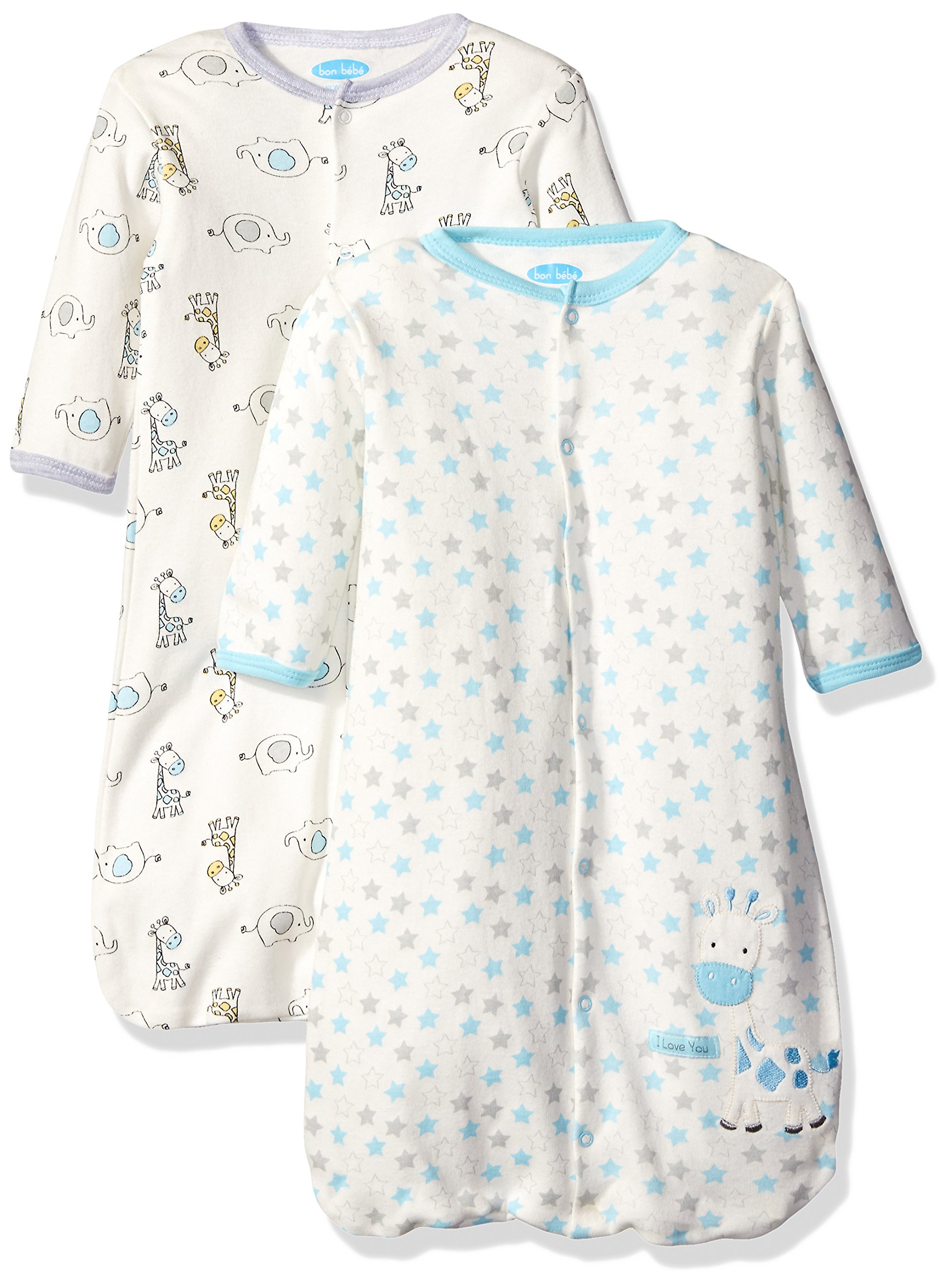 Bon Bebe Baby Best Friends Assorted 2 Pack Wearable Blanket, Neutral, 0-6 Months