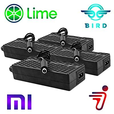 Heavy Duty 4 Pack Bird Lime Electric Scooter Chargers UL Certified Compatible with Xiaomi Mijia m365 Segway Ninebot ES 1 2 4 by Titan Pack: Home Audio & Theater