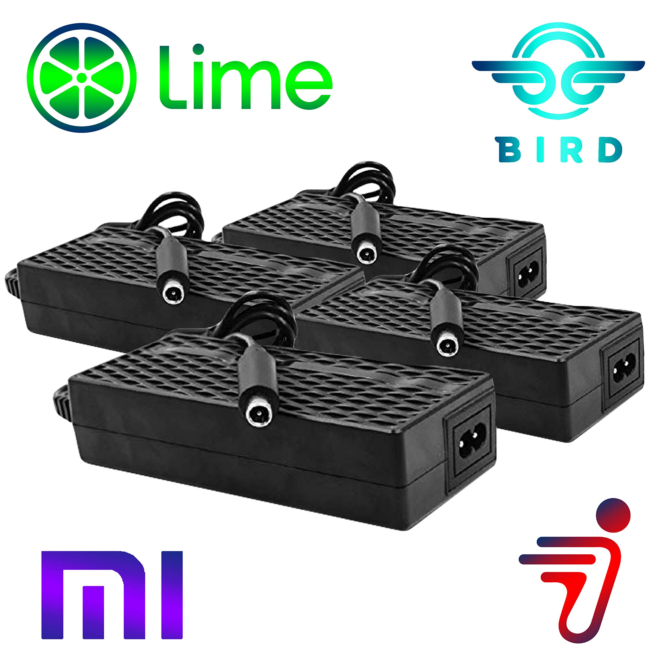Heavy Duty 4 Pack Bird Lime Electric Scooter Chargers UL Certified Compatible with Xiaomi Mijia m365 Segway Ninebot ES 1 2 4 by Titan Pack by TitanPack