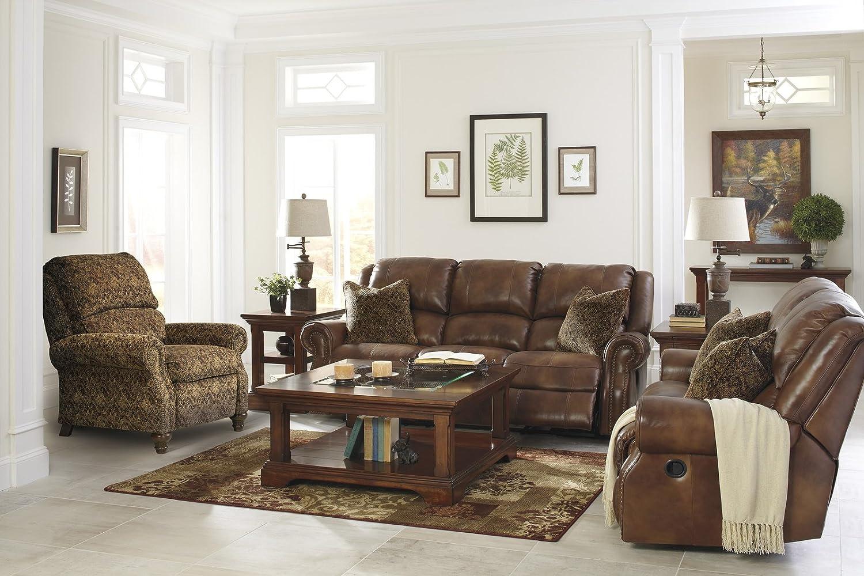Amazon.com: Ashley Furniture Signature Design   Walworth Recliner Chair    Manual Reclining   Auburn Brown: Kitchen U0026 Dining