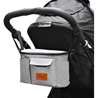 LXRYBABY - Baby Stroller Bag - Universal Fit For All Prams - Secure Clips With Built in Shoulder Strap - Deep Pockets…