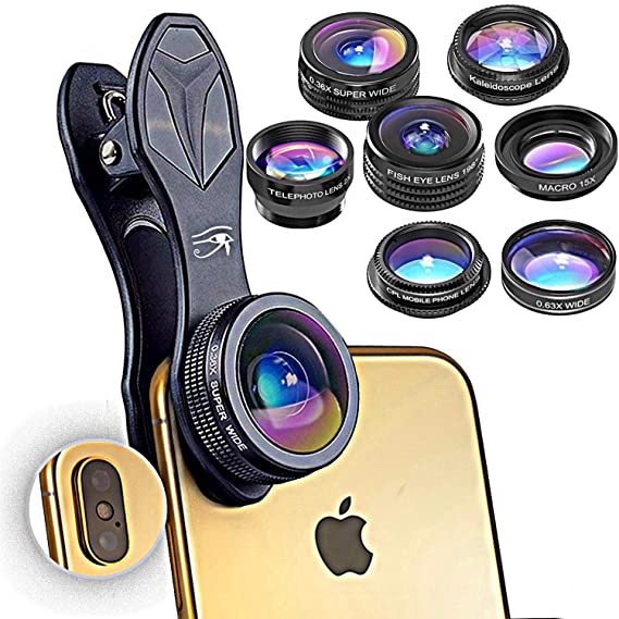 more photos 466c3 bee4e RETINA 7 in 1 IPhone Lens - Transform Your iPhone Into A Professional  Quality Camera - Fish Eye - Wide Angle - Zoom for IPhone X, 8, 8 Plus, 7, 7  ...