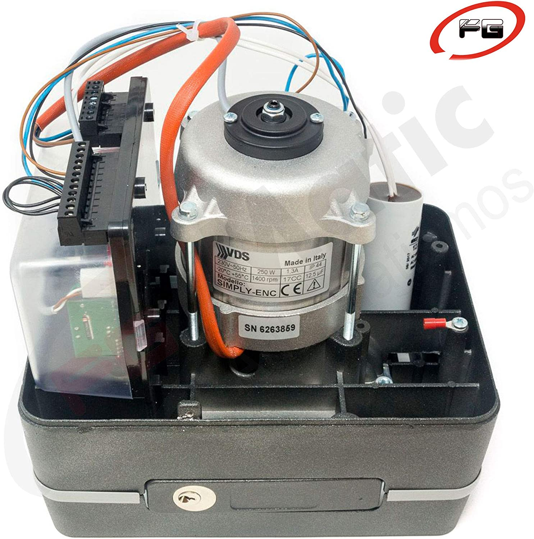 Kit para automatizar tu puerta de garaje corredera modelo VDS SIMPLY 230v 600 Kg, incluye motor, 2 mandos Rolling Code 433mhz, placa de control, 4 metros de cremallera, fotocélula y manuales.: Amazon.es: