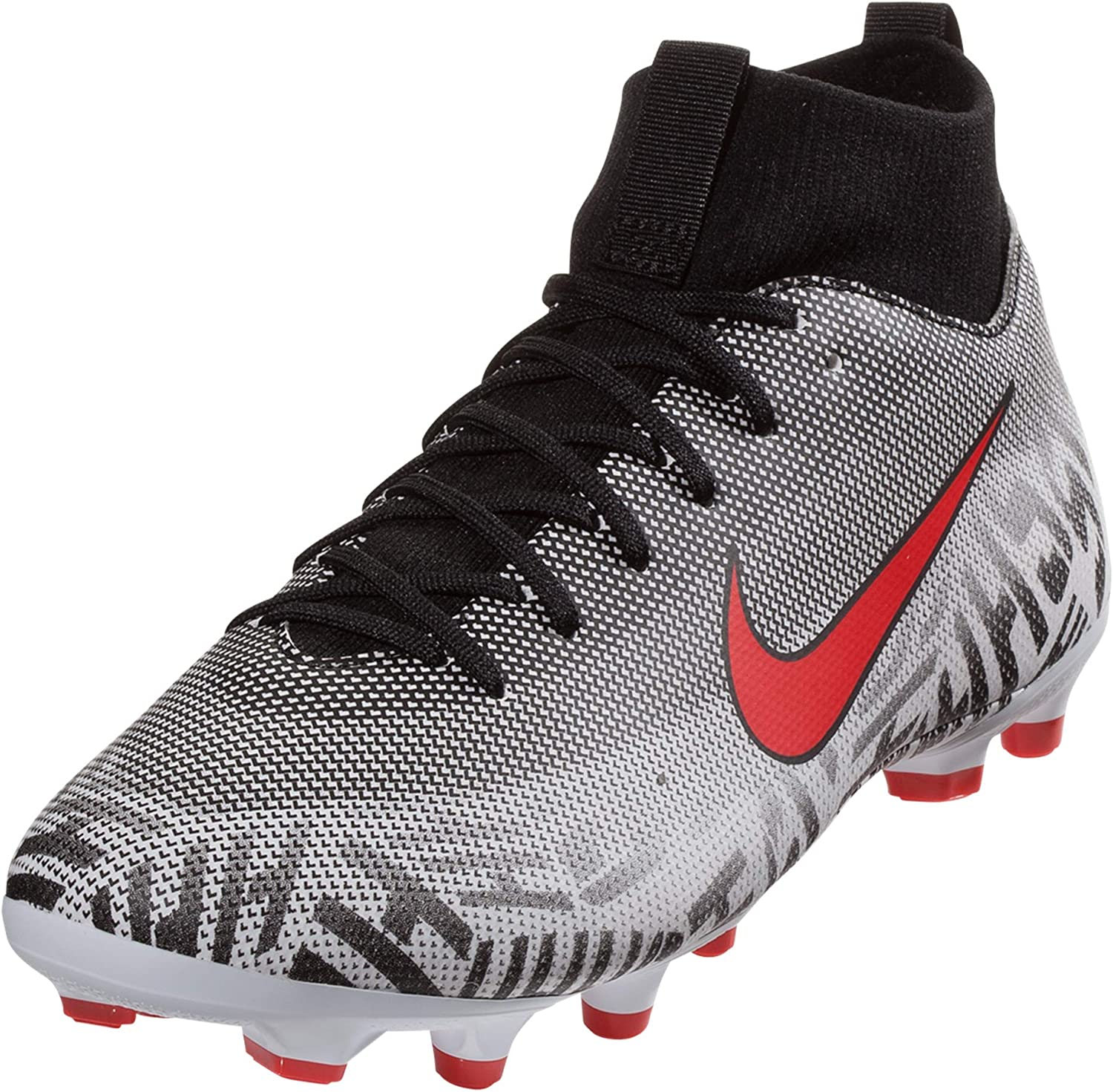 Nike Youth Superfly 6 Academy NJR FG//MG Soccer Cleats-White//Challenge Red//Black 6Y