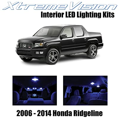 XtremeVision Interior LED for Honda Ridgeline 2006-2014 (18 Pieces) Blue Interior LED Kit + Installation Tool: Automotive