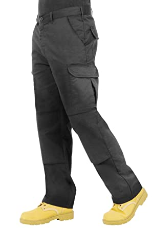 03e780fcde Endurance Mens Cargo Combat Work Trouser with Knee Pad Pockets and  Reinforced Seams (28R,