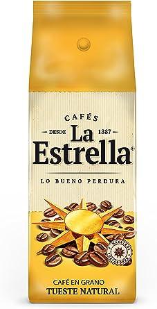 La Estrella - Café en Grano Tostado Natural - Pack de 4 x 250 g: Amazon.es: Alimentación y bebidas