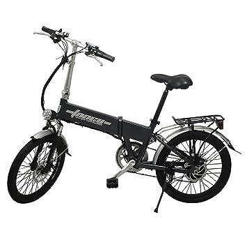 Bicicleta eléctrica plegable 51 cm aluminio, 6 marchas, Shimano, EB-A1,