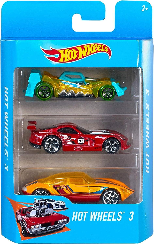 Hot Wheels Pack de 3 vehículos, coches de juguete (modelos surtidos) (Mattel K590): No Name: Amazon.es: Juguetes y juegos