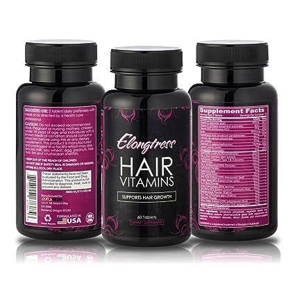El crecimiento del cabello Vitaminas - 5000 mcg Biotina, sílice y MSM - 2 por
