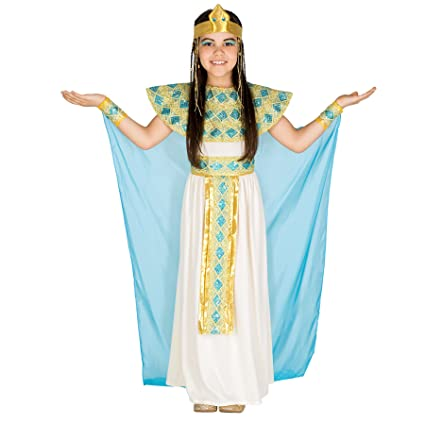 3409c256b087 dressforfun Costume da bambina - Cleopatra | Incantevole abito |  Acconciatura in stile egizio (5-7 anni | no. 300186): Amazon.it: Fai da te