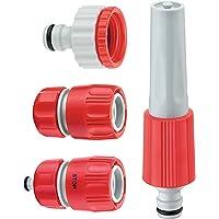 Cornat válvulas y Conexiones Juego de Equipamiento básico, de plástico, Compuesto por: 1Jeringa, 1–Racor IG 3/4+ IG 1, 1Conector para Tubo 1/2Pulgadas, 1Agua Stop 1/2Pulgadas