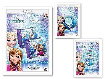 Disney Frozen Frozen flotador (Manguitos de playa Set 3 Piezas: Amazon.es: Juguetes y juegos