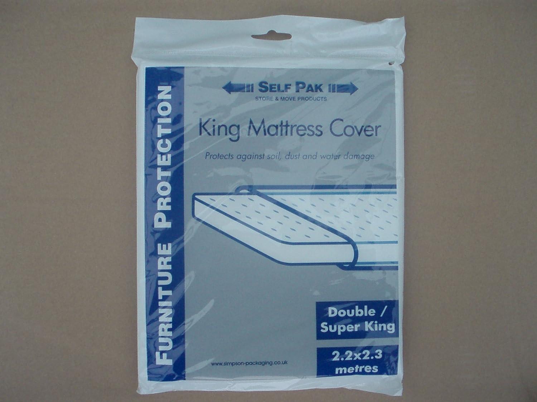 Cubierta para Colchón, Doble / King / SuperKing para Mudanza o Almacenamiento (Bolsa Grande de Polietileno). Ea fabricada al estándar necesario por Removal ...