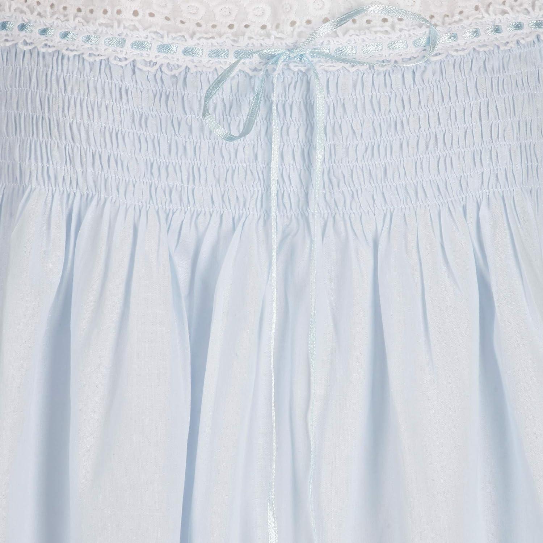 XXL The 1 for U 100/% Coton Chemise de Nuit Manches Courtes Bleu Evelyn