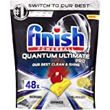 Finish Powerball Quantum Ultimate Pro Dishwasher Tablets, 48 Pack, Lemon Sparkle