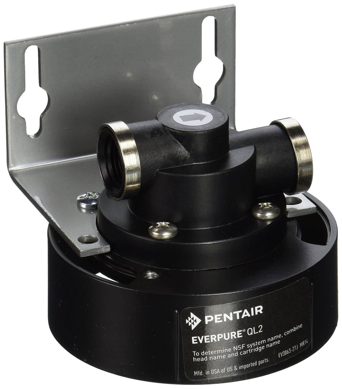 Everpure EV927218 QL2 Single Filter Cartridge Head, Silver Black