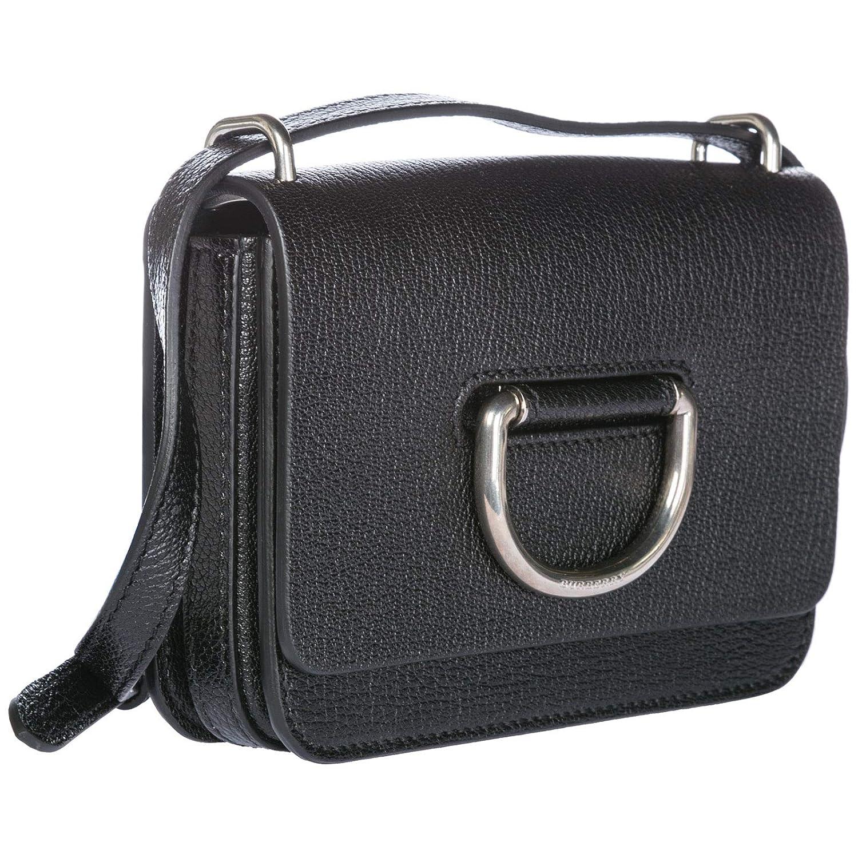 21bca37ab Burberry women's leather cross-body messenger shoulder bag D-Ring black:  Handbags: Amazon.com