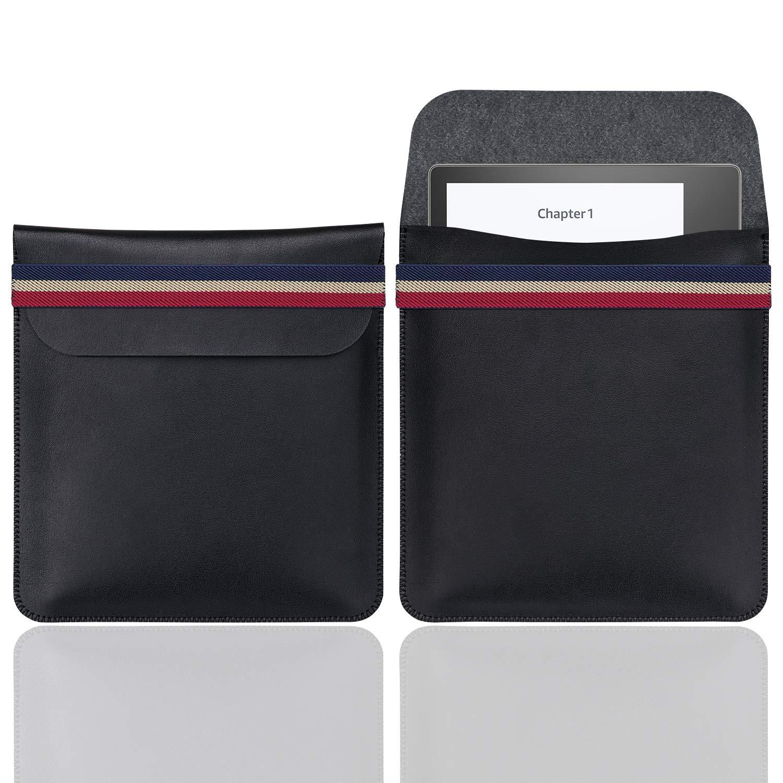 WALNEW 7'' Kindle Sleeve for Kindle Oasis 2017 Protective Insert Sleeve Case Bag (Kindle Oasis 2017, B-Black)