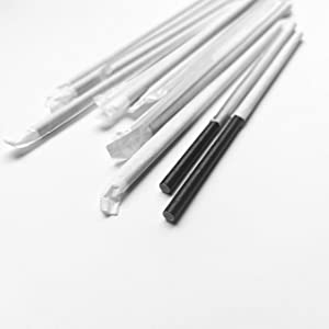 Go Green 200-Pack Black Paper Drinking Straws, 6mm Individually Wrapped Disposable Drinking Paper Straws, Natural Eco Friendly Biodegradable Drinking Straws, Party Decoration Supplies